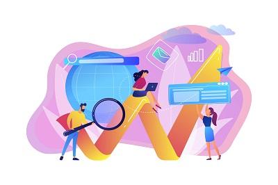 Digital marketing concept vector illustration.